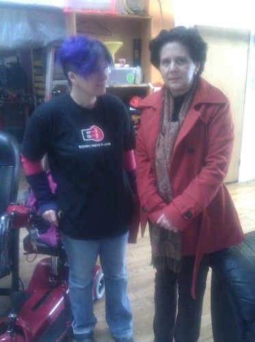 me and maria zaghi at noisebridge