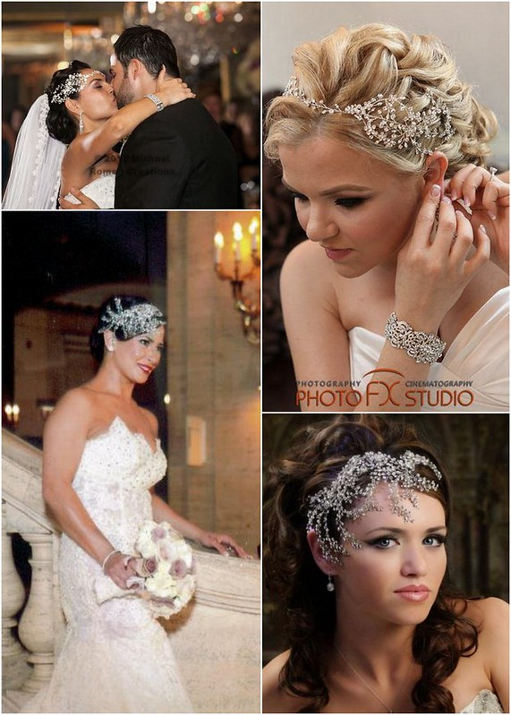 Soft crystal hair vines - Bridal Styles Boutique