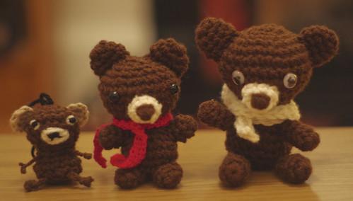 amigurumi #91+#92+#93 bear brothers