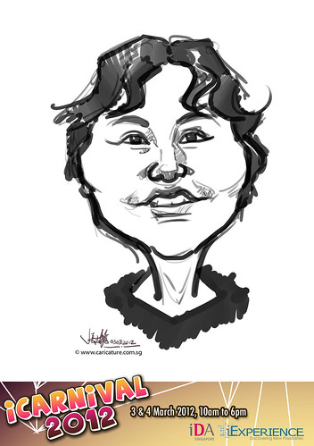 digital live caricature for iCarnival 2012  (IDA) - Day 1 - 89