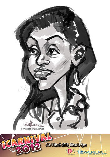 digital live caricature for iCarnival 2012  (IDA) - Day 2 - 59