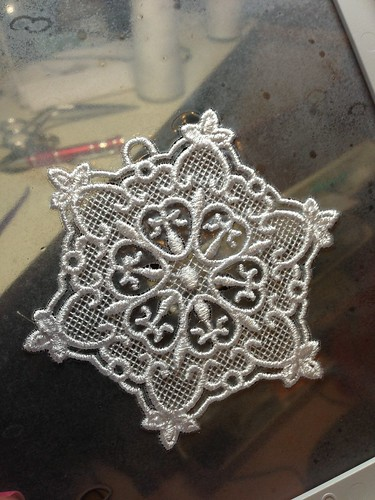 Freestanding Lace Snowflake - poly embroidery thread