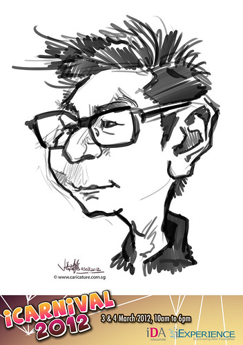 digital live caricature for iCarnival 2012  (IDA) - Day 1 - 102