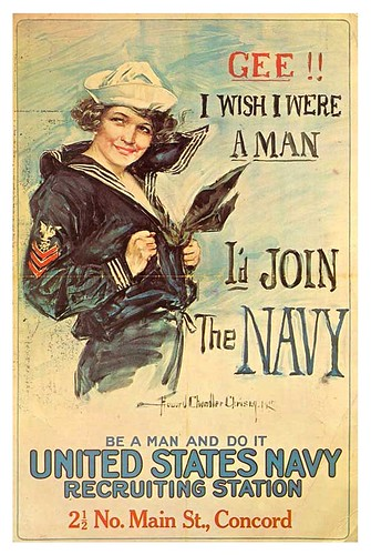003-Gee  I Wish I Were a Man, I'd Join The Navy, Navy Reserve or Coast Guard, 1917-18-Howard Chandler Christy - Lafayette College Special Collections