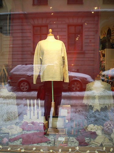 """Marzipan sweater"" on display by Asplund"