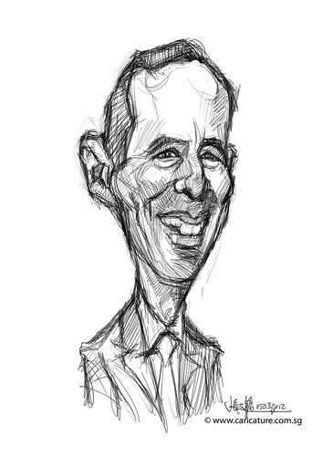 digital caricature of Gido van Praag for Hewlett Packard - 1