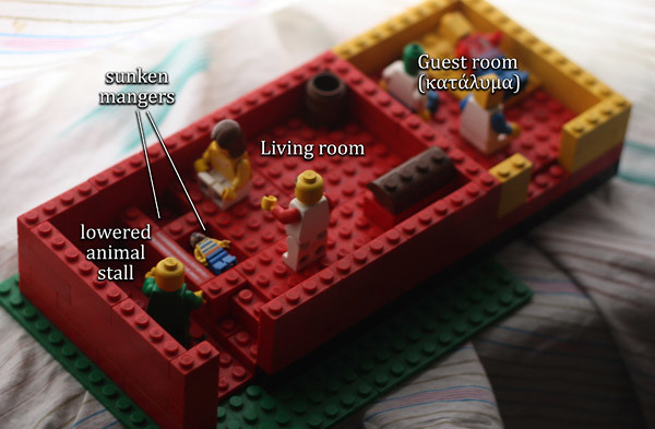 Lego Nativity Scene with Kataluma