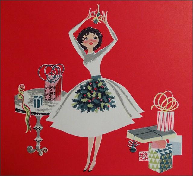 Vintage Wedding Card Unused Greeting Card 1960s 1950s: 1950s Christmas Card Hallmark