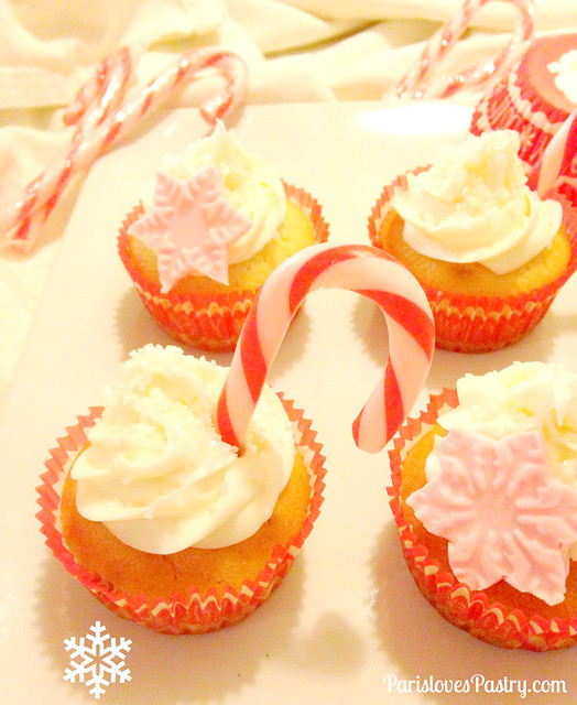 Snowflake & Candy Cane Cupcakes