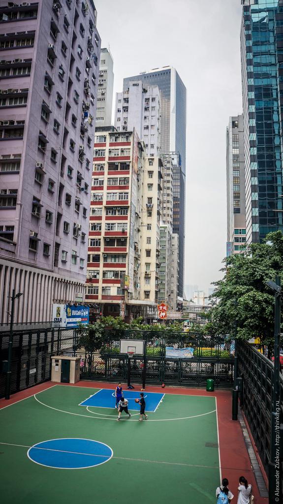 Спортивная площадка в районе Ван-Чай (Гонконг)