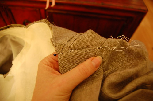 Making a robe a l'anglaise 38