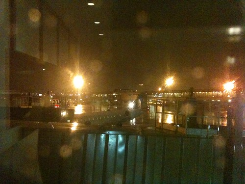 View of EWR tarmac from Terminal A United lounge