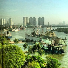 The #Saigon river, #Vietnam