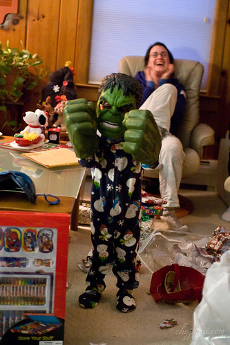Teddy as Hulk
