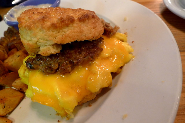 sausage, egg, cheese, biscuit