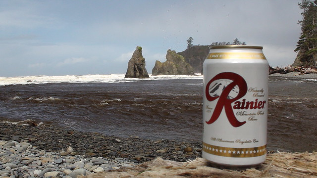 Rainier Beer on the Washington Coast