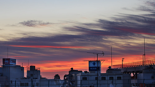 morning pink crimson rose japan clouds sunrise canon landscape dawn high cityscape dynamic vibrant newyear 5d yokohama range hdr markii firstlight 2013 kanagawaprefecture handblended karlocamero jankarlocamero