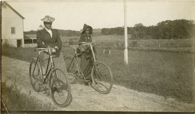 Black Woman and Girl with Bicycles - Shellir Island, New Jersey, 1901