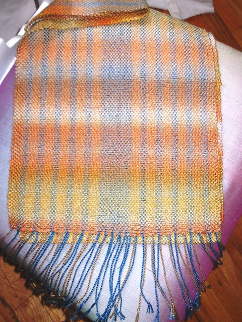 dragonfly sunset scarf