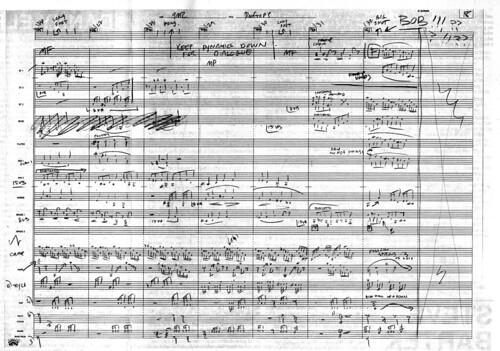 Hand written score