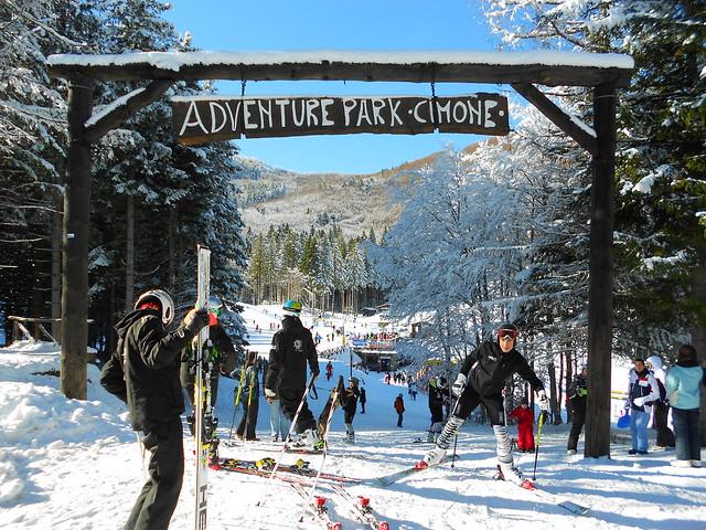 Adventure Park Cimone e sciatori