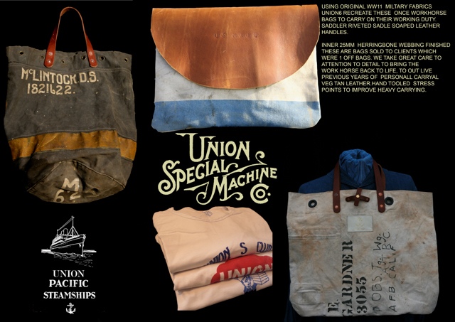 UNION 6 luggages bags