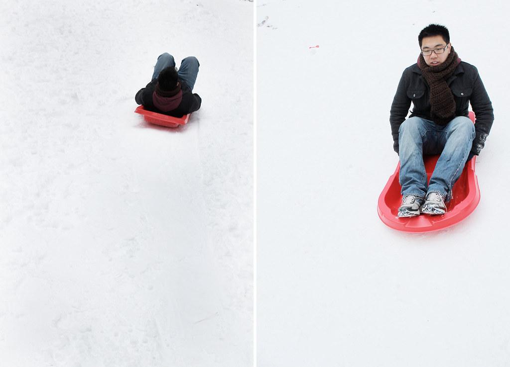 alex sledding 1