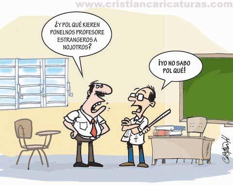 Caricaturas de cristian hermandez noticiario barahona for Profesores en el extranjero