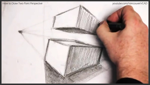 2D design how to draw in two point perspective 024
