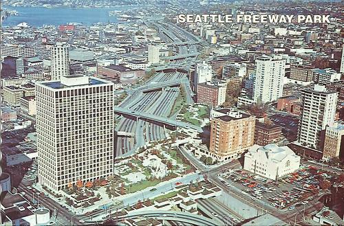 Freeway Park, circa 1978 by Seattle Municipal Archives