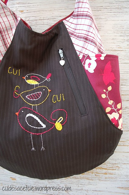 Eco friendly 241 tote with hand embroidery