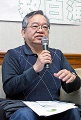 中研院研究員邵廣昭認為各部會都應出面解決白海豚保育。(攝影:楊萬雲)