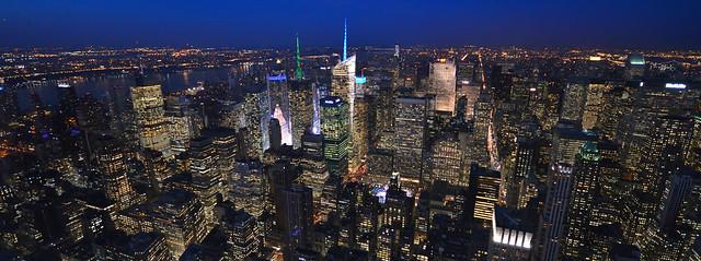 Panorámica de la hora mágica en Nueva York