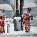 Taxi!!! - Coming of Age day under the snow in Tokyo by balbo42