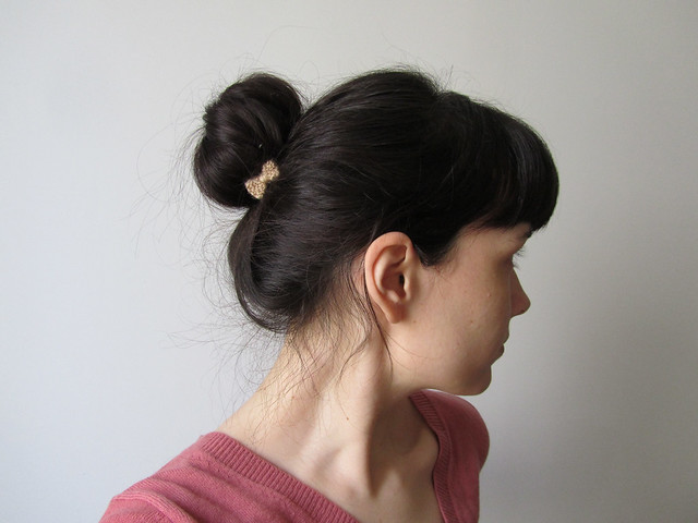 sock bun with bow