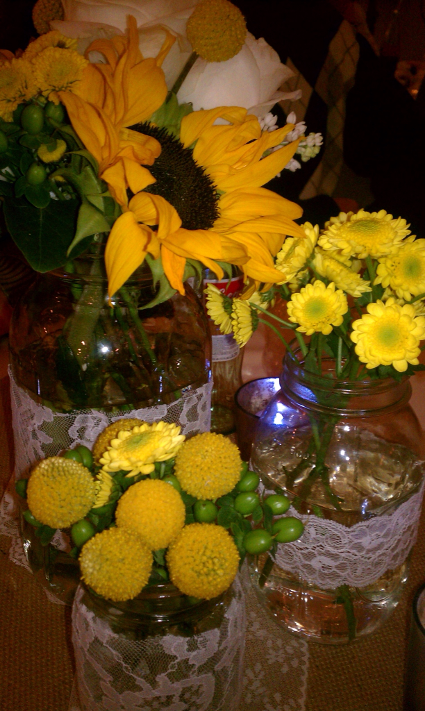 Diy Country Wedding Centerpiece Wednesday The Style Sisters