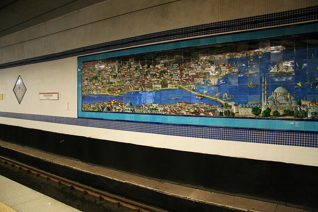 Subway station in Istanbul, Turkey イスタンブールの地下鉄