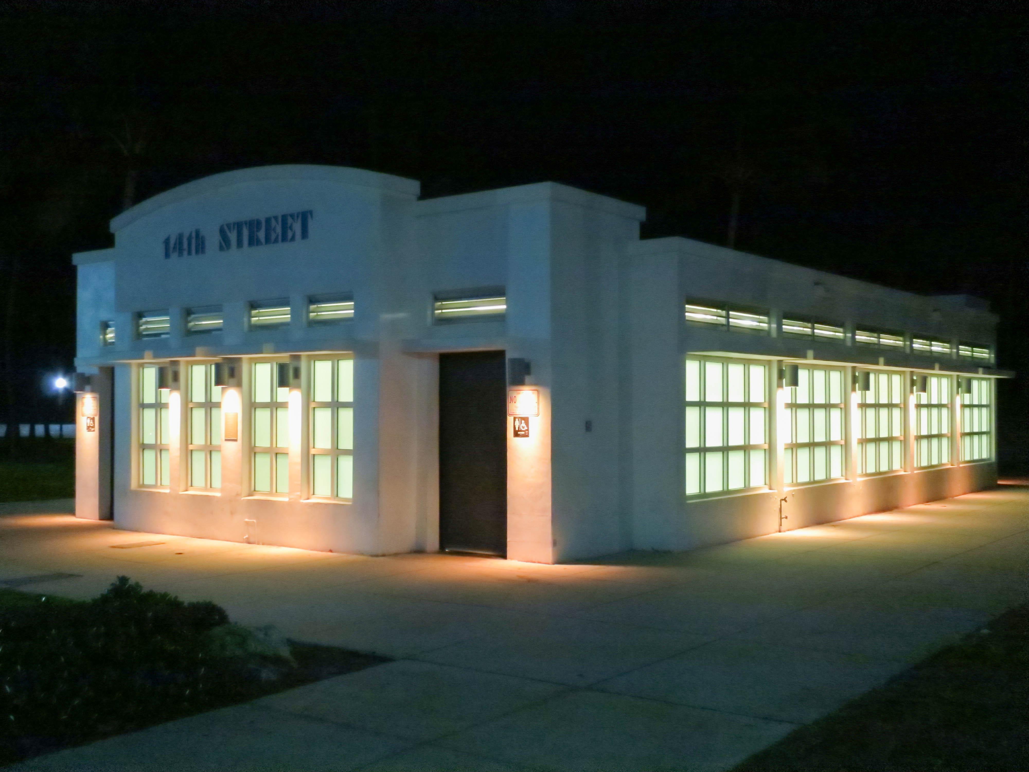 14th Street Restrooms - Ocean Drive - South Beach, Florida