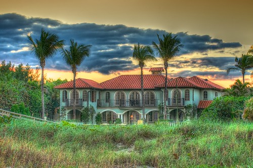 sunset house architecture mansion tropics