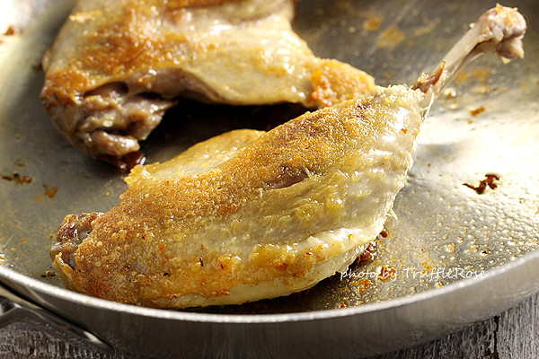 乾煎油封鴨佐燜煮紅甘藍和蒜香球芽甘藍-20130124