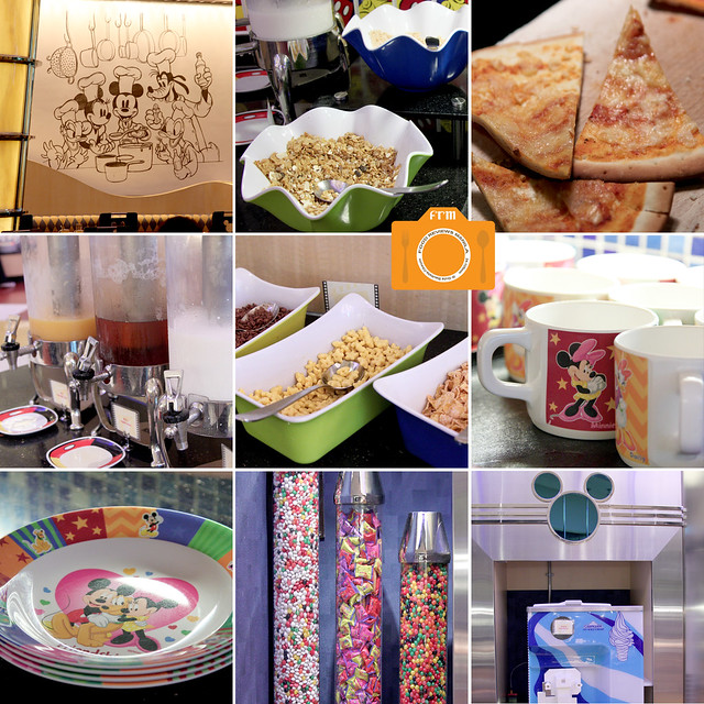 Chef Mickey buffet collage