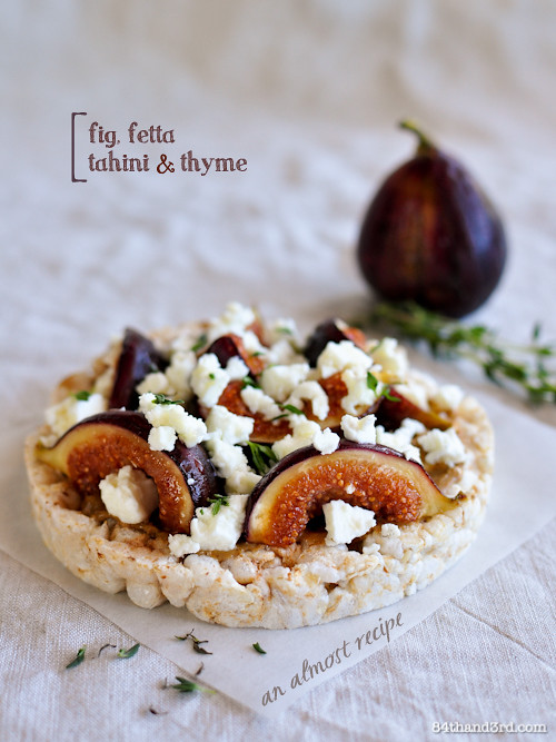 Fig, Fetta, Tahini & Thyme - an Almost Recipe