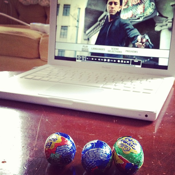 Cadbury eggs *and* Looper? I live on the edge.