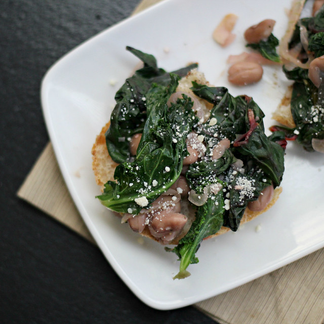 Pain de Campagne and Braised Mixed Greens and Garlicky Beans on Toast ...