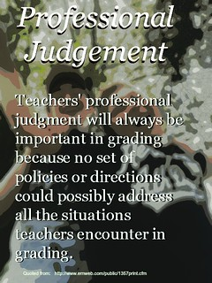 "Educational postcard:   ""Professional Judgement"""
