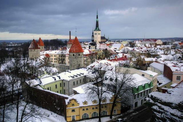 snow in tallinn estonia