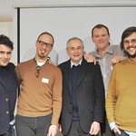 Tom Herbert, Emmanuel Hadjiandreou, Andrew Whitley, Chris Young and Tom Baker at the Real Bread Campaign gathering 24JAN13