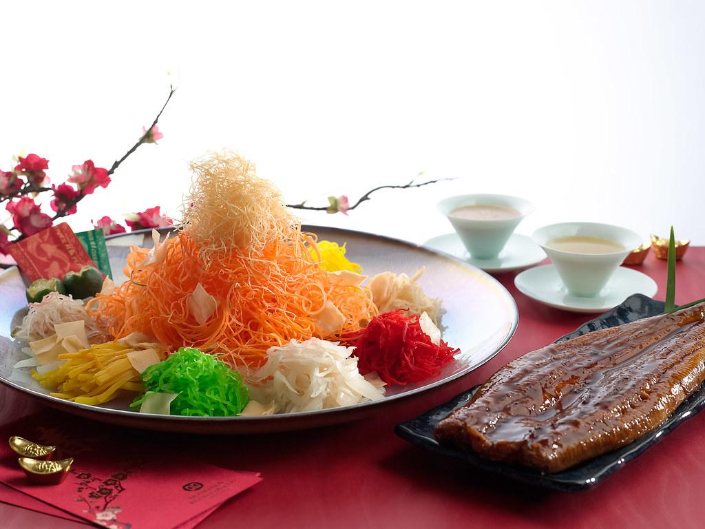 203_Peach_Blossoms_-_Unagi_Yu_Sheng_with_Hong_Kong-style_Sesame_Dressing