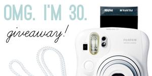 OMG. I'm 30. Giveaway!