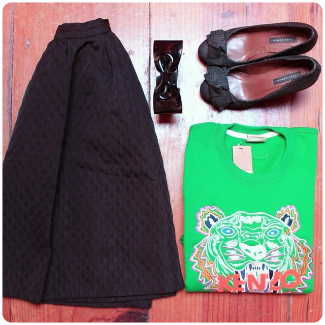 Sudadera verde tigre kenzo